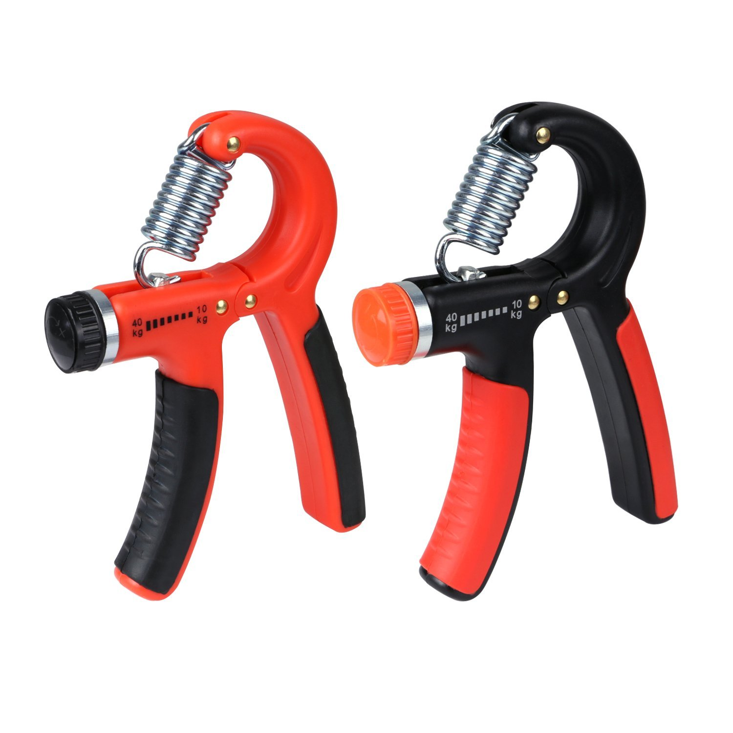Hand Grip Strengthener, Golo Premium Adjustable Resistance 22-88 Lbs Arm Strength Trainer with Non-slip Gripper for Athletes Pianists Kids Free Exerciser(2 PACK)