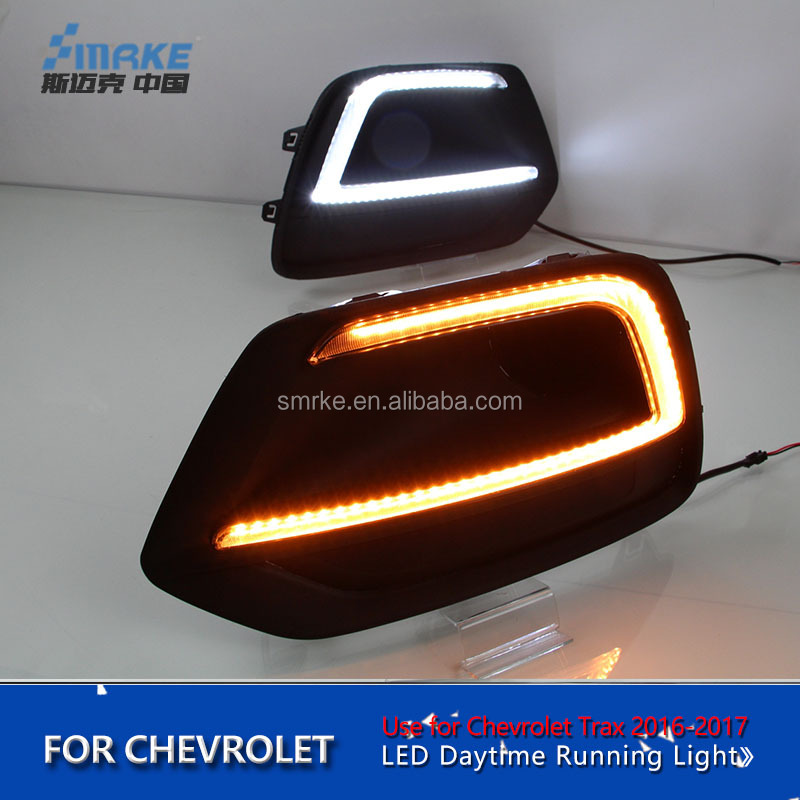 for Chevrolet Trax Tracker LED DRL for New Tracker 2017 LED Fog Light Front Lamp Auto Accessories