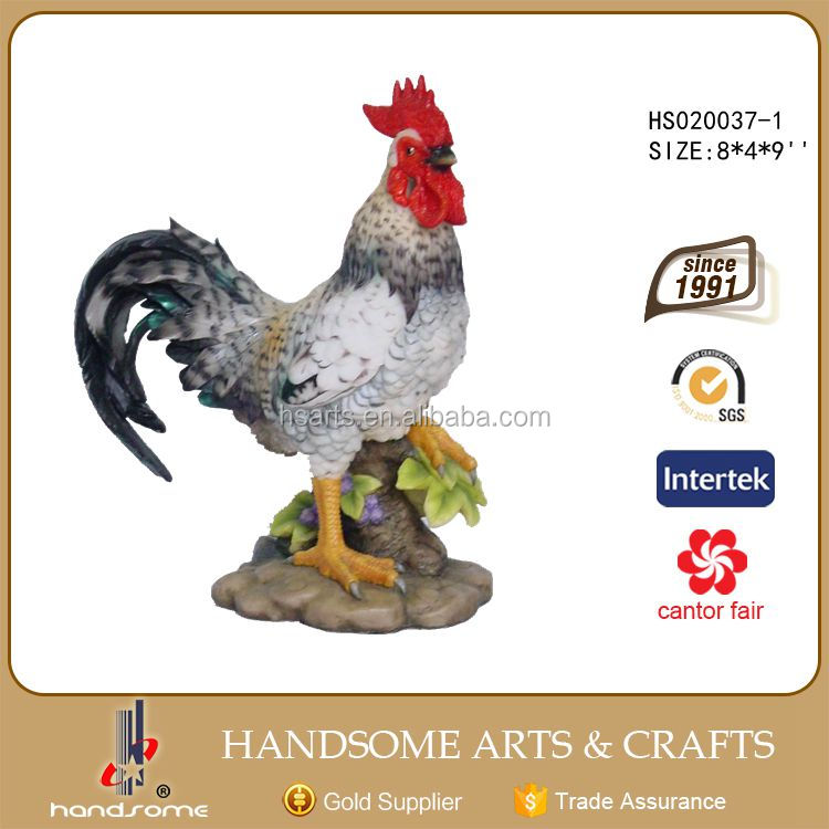 Hot sale Polyresin Statue Resin Animal Rooster Sculpture