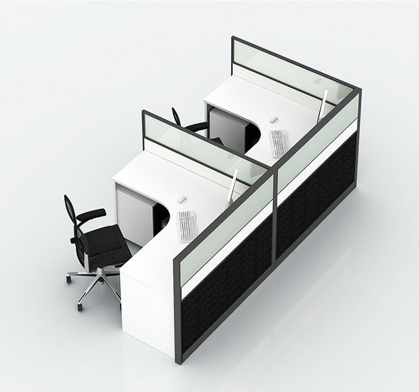4ft modern office partition workstation table ofmn1270 for Cheap modern furniture kuala lumpur