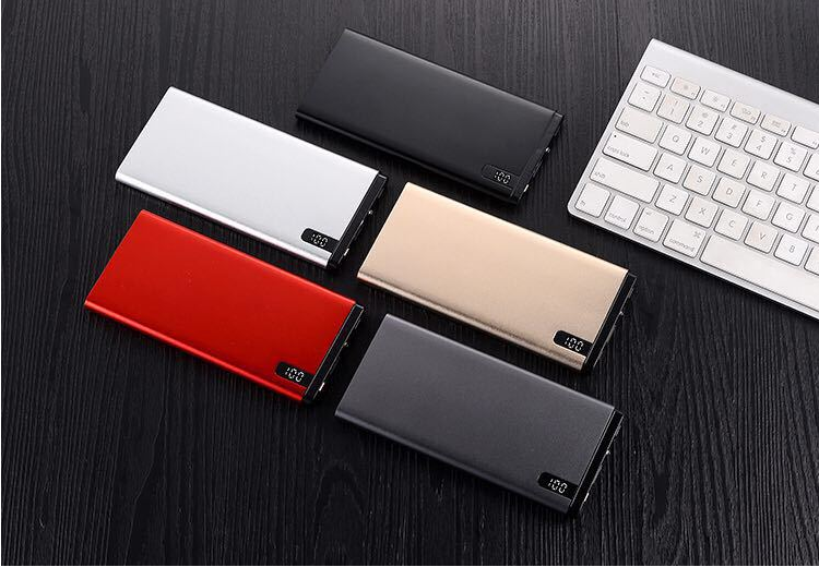 Ultrathin digital display metal alloy power bank fast charge in wholesale