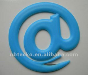 Alpha shape promotional plastic letter opener (with bookmark)