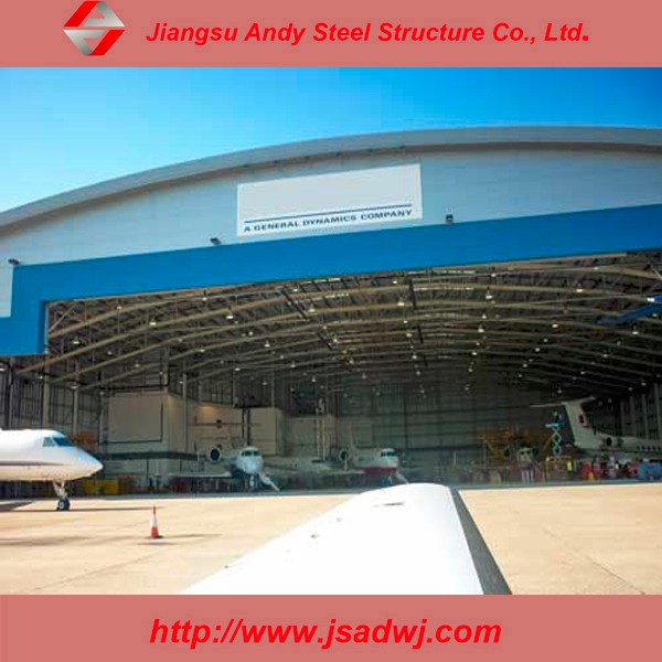 Prefab Long Span Steel Roof Truss For Aircraft Hangar