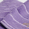 2015 purple stripe car wash microfiber towel