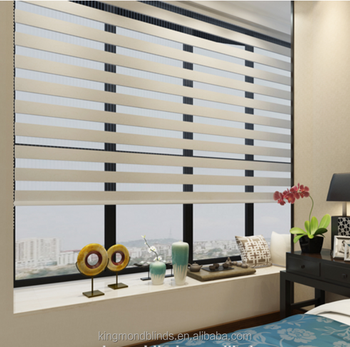 Top quality day night zebra blinds chain double roller blinds