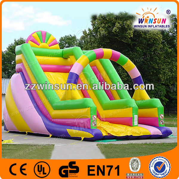 Most exciting summer popular water pool slide/2013 best quality inflatable water slide for kids