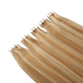 blonde hair extensions tape in piano color hot sell on Aliexpress tape hair extension