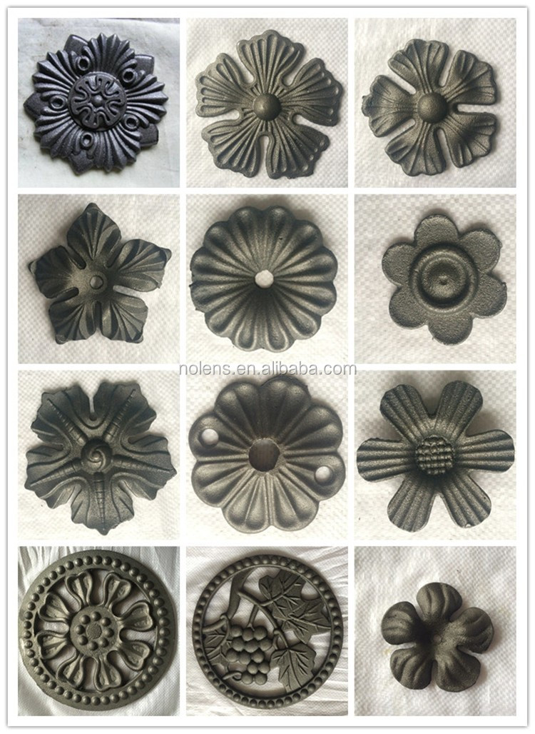 Ornamental Wrought Iron Cast Steel Leaves And Flowers