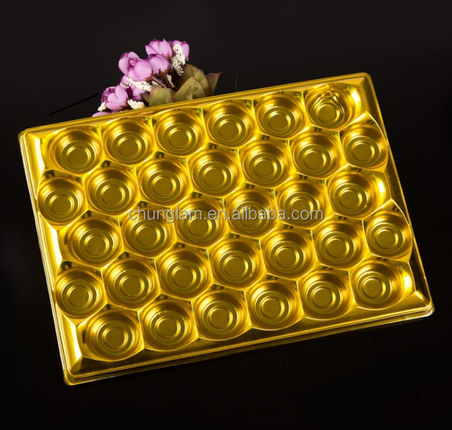 Food Grade PS Chocolate Plastic Trays Packaging Plastic Packaging Inner Tray plastic tray