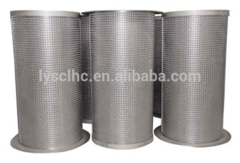 OEM 10 20 30 40 inch Micron SS304 SS316 Stainless Steel Mesh Filter Cartridge for Water treatment filter element