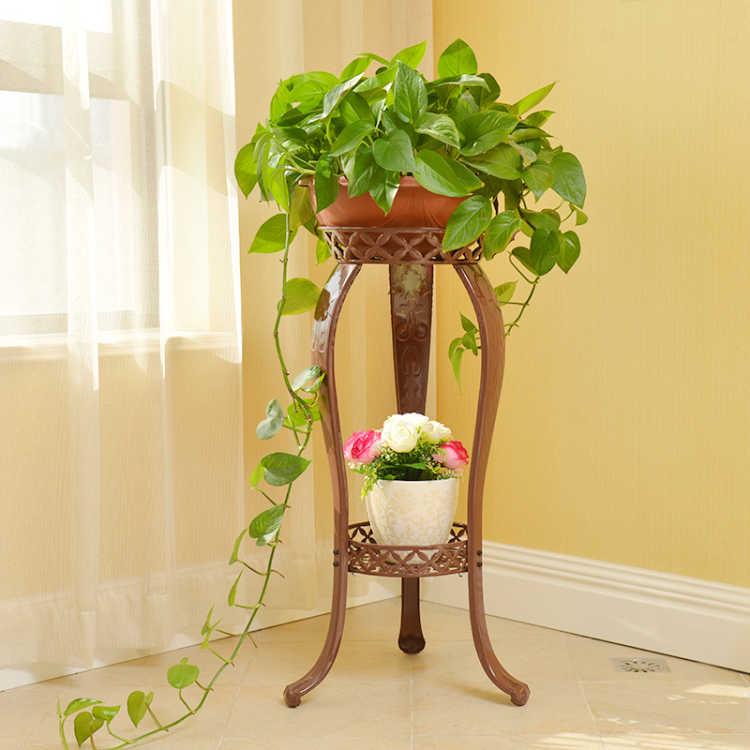 Supermarket wholesale garden line small metal plant pot flower stands