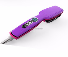 2017 Hot sale product fast shipment protect hair massager brush wonderful hair straightener