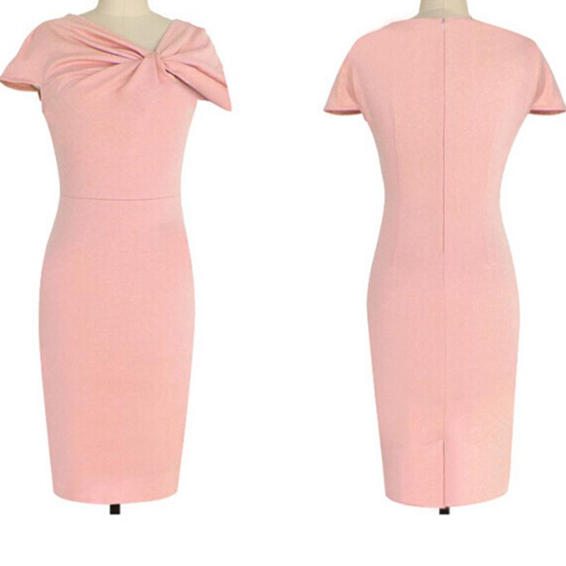 Lápiz partido vestido de negocios más tamaño sexy vestidos de lino ...