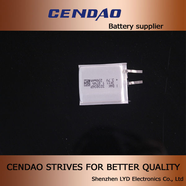 323036 3.6V lithium polymer battery rechargeble batterry 3.6V lithium polymer battery 3.6 290mah for ic card