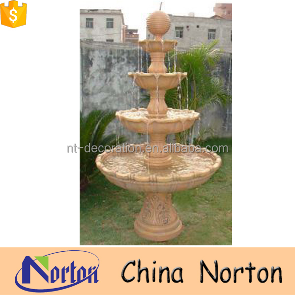 Antique beatuiful 3 tiers garden water fountain with ball for sale NTMF-S003Y