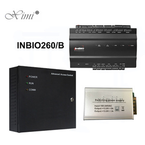 Free SDK TCP/IP Fingerprint Access Control Board ZK Inbio 260 Access Controller Panel With Power Protect Box And Battery
