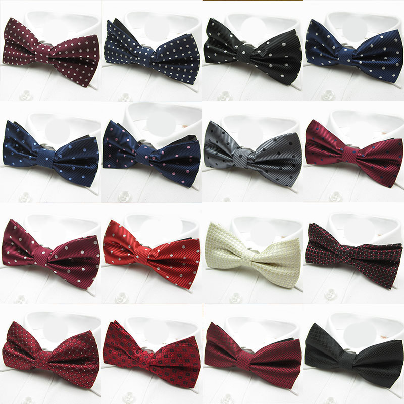 Fashion Aristocracy Style Cravat Bowknot Men Bow Tie Solid Color Bow Wedding Groom Bowtie Dot