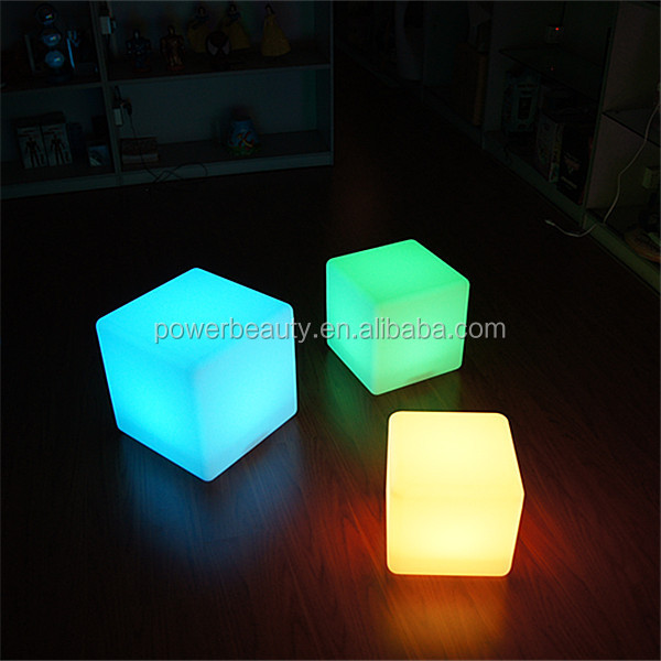 Lovely Led Light Cube Coffee Table/ Light Up Glow Cube Side Table/ Cube Led Table