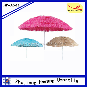Hawaii Beach Parasol,Straw Beach Umbrella With Polyester & Pp