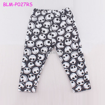 Halloween Knitted Skull Pattern Baby Girls Boys Harem Pants