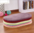 Amazon Hot Sell Plain Sheepskin Berber Fleece Shaggy Lowest Prices Bath Home Floor Area Soft Memory Foam Oval Carpet Rug
