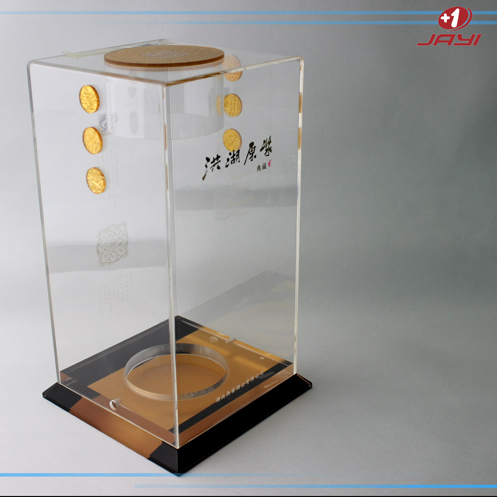 China manufacturing acrylic glass wine bottle display box