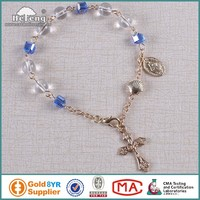 Round and Cubes Glass Beads Wholesale Rosary Bracelet