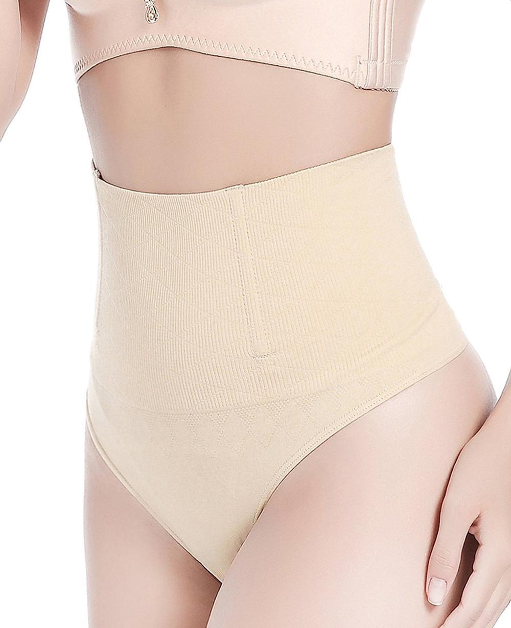 e19ca6d92f97a High Waist Trainer Tummy Slimming Control Waist Cincher Body Shaper Thong  G-String Butt Lifter Seamless Panties Underwear
