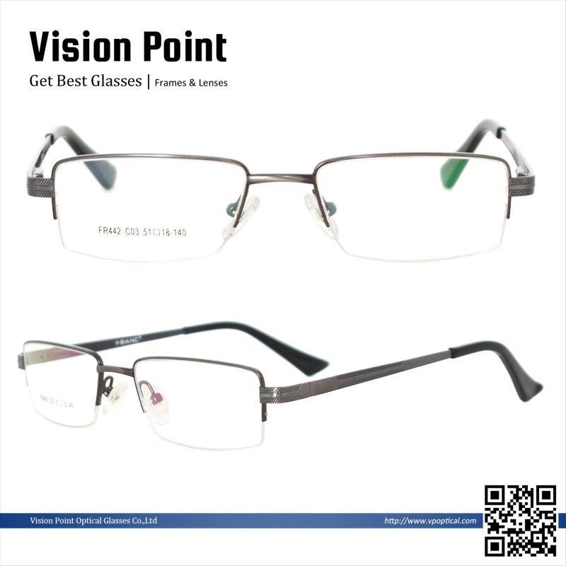 Mitad-Borde de metal para hombre nuevo estilo 2014 monturas lentes ...