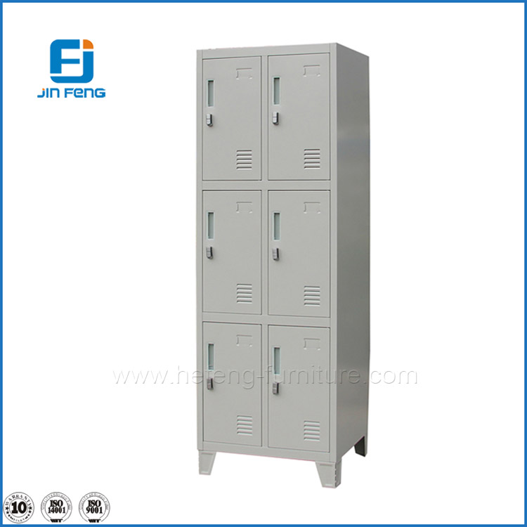 Steel Office Furniture 6 Doors Wardrobe System /Clothes Closet