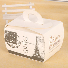 Custom order disposable paper type food grade birthday packaging cake box