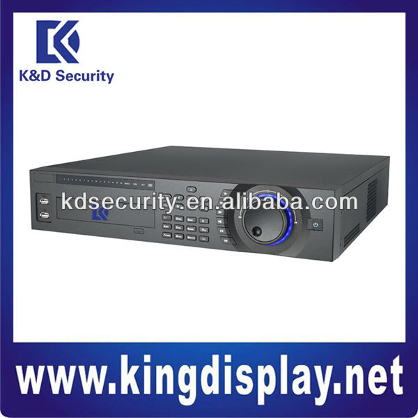 Max 1000m RJ45 16channel Hybrid 2U Standalone Security DVR, multi-brand network cameras supported