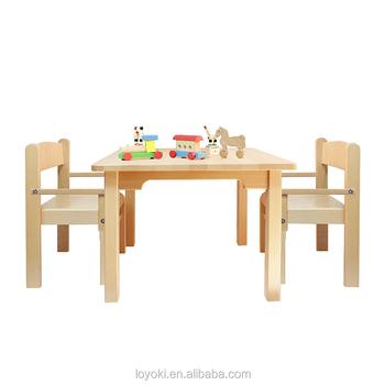 Kindermöbel Aus Massivem Buchenholz Mit Tisch Und Stuhl 3er Set Naturlack  Mit Kindertisch Und -stühlen - Buy Kinder Tisch Und Stühle,Kinder Tisch ...