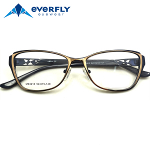 Middle school student eyeglasses new stylish metal optical frame
