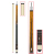 "58"" 2 Pcs Pool Cue - Billiard Cue Stick Several Colors Weight 19 to 21 Oz"