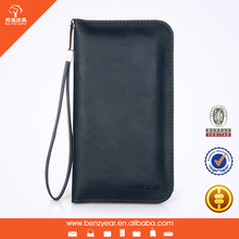 "PU leather universal phone case wallet for 5-6"" smart phone"