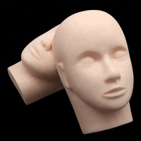 Wholesale Silicone Eyelash Extension Training Mannequin Head Flat Model Practice Training Head