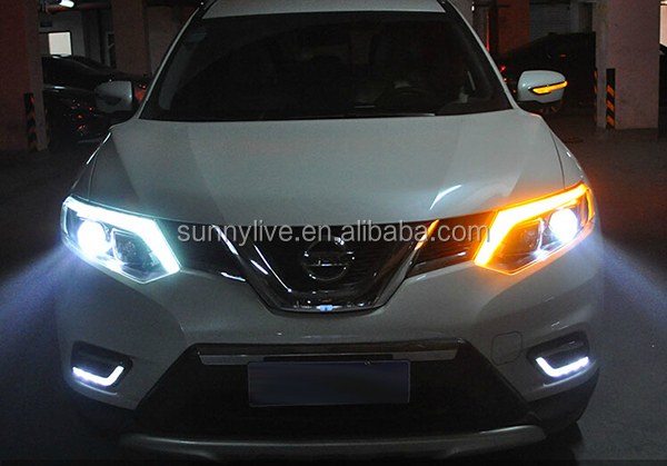 Product detailed pictures For NISSAN X-Trail Rogue LED Head Light 2014 Year Black Housing PW & For Nissan X-trail Rogue Led Head Light 2014 Year Black Housing Pw ... azcodes.com