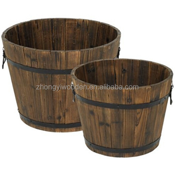 Home balcony garden decoration custom factory supply wooden plant flowerpot