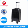 trade assurance 4 aircraft wheels,zipper hard-shell ABS trolley travel luggage