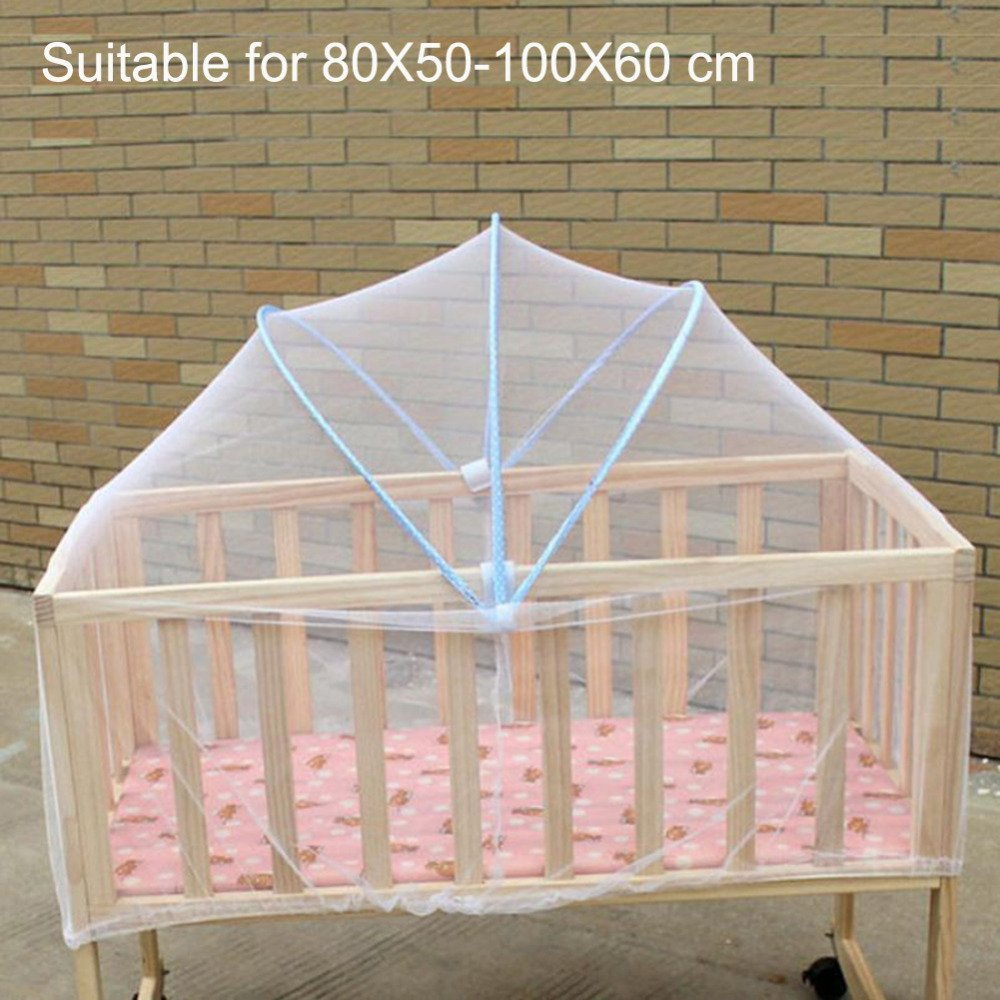 Infants Baby Bed Crib Folding Arched Yurt Crib Mosquito Netting Mosquito Net Pushchair Curtain Full Cover Baby Netting Crib