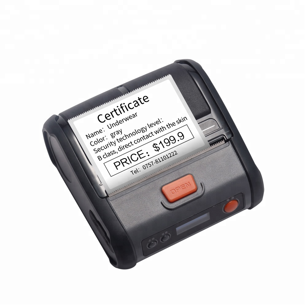 Portable operation thermal label sticker and ticket printer wireless