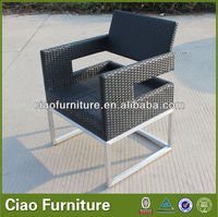 Aluminum wire drawing rattan arm chairs