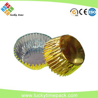 Round no pollution aluminum foil chocolate cup with lids