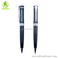 China Sale Logo Custom Metal Pocket Clip Ball Pen for Office Use Metal Pen