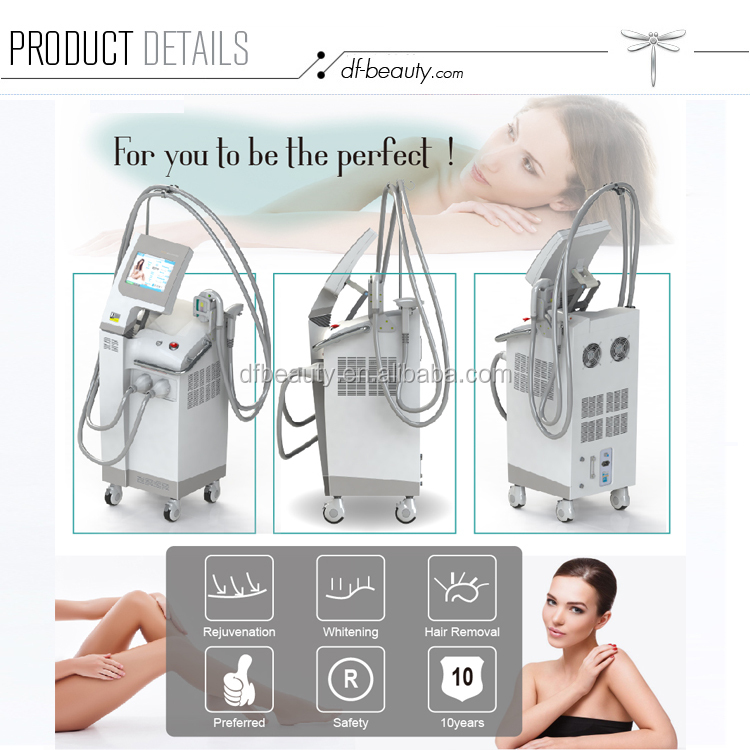 DFBEAUTY 2 In 1 Blood Vessels Removal Face Lift Ipl Handpiece /Elight Shr Machine With Ce