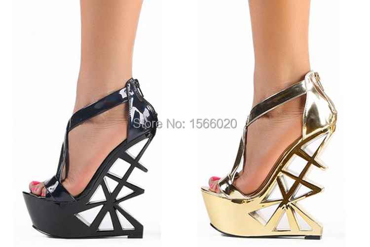c20cc05f931 Buy Summer gladiator heel sandals Buckle 14 cm high sexy open toe wedge  sandals 4.5CM wedge platform shoes sandals size 34 shoes in Cheap Price on  Alibaba. ...