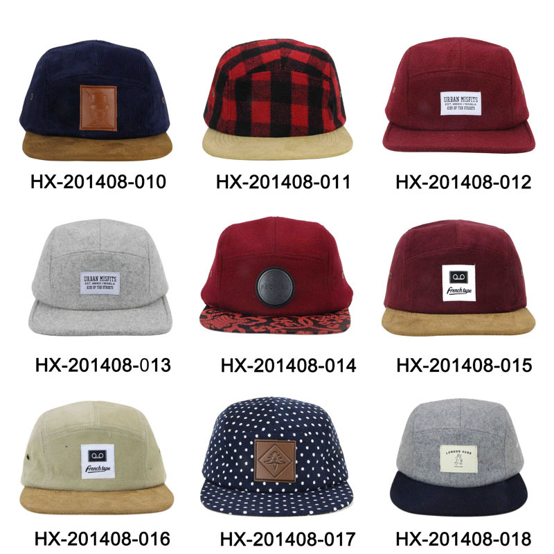 3761cdb416791f custom logo unstructured canvas 5 panel hat sewing pattern snapback hats