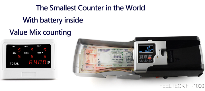 Bank smallest automatic electronic counterfeit banknote currency ...