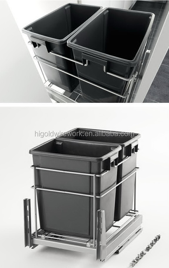 Higold Kitchen Pull Out Double Waste Bin
